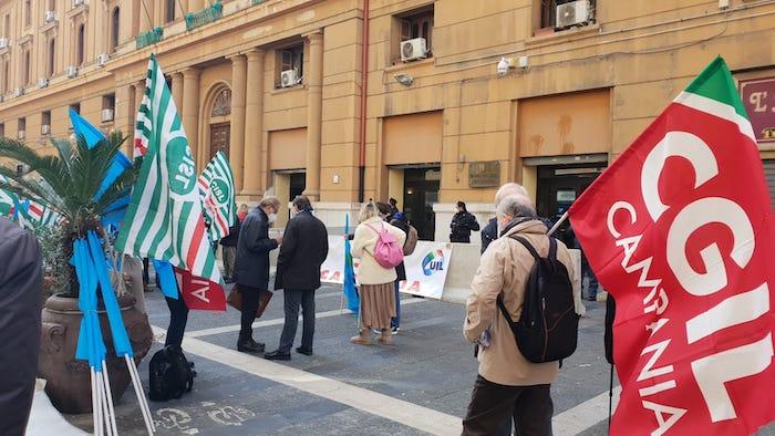 sit-in sindacati campania
