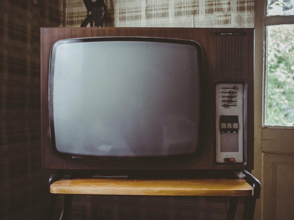 televisore schermo vintage