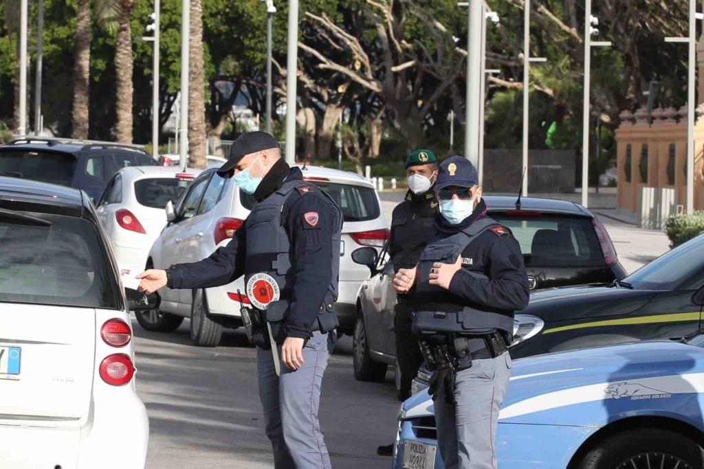 polizia lockdown