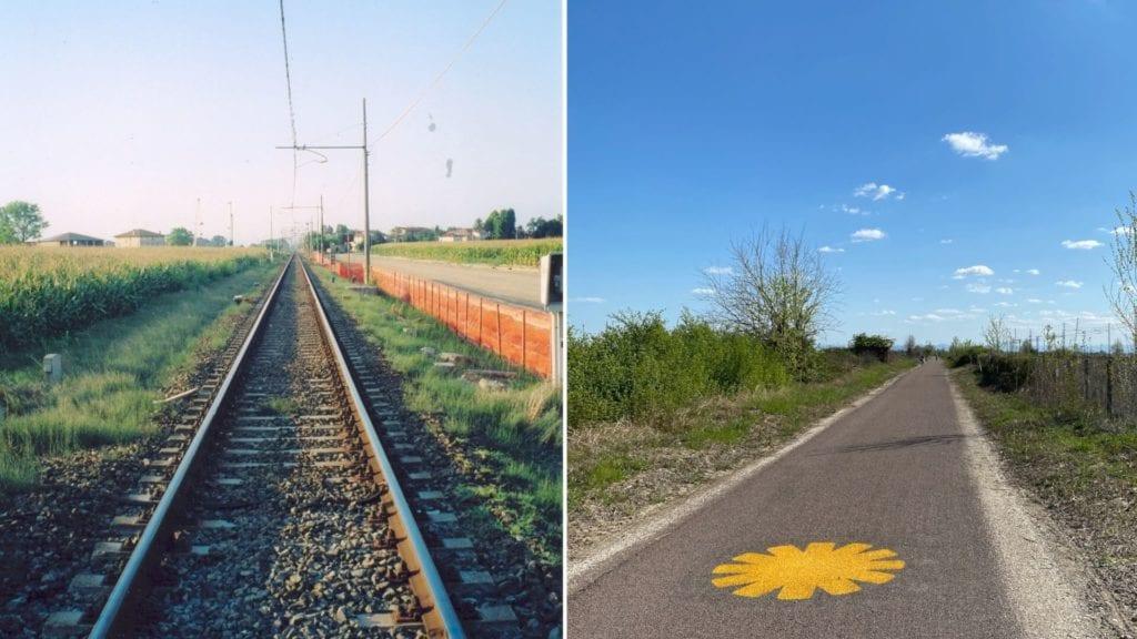 08Ciclovia del Sole_ferrovia prima e dopo
