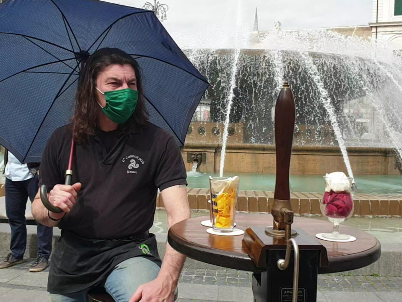Fabrizio Bogo protesta ristoratori genova