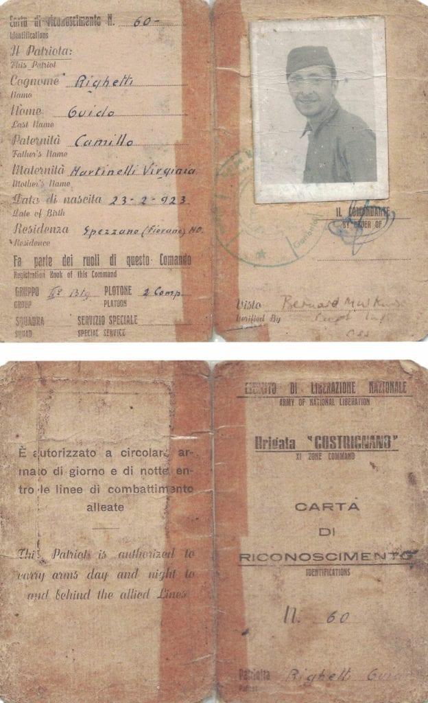 Guido 'Portos' Righetti partigiano sassuolo