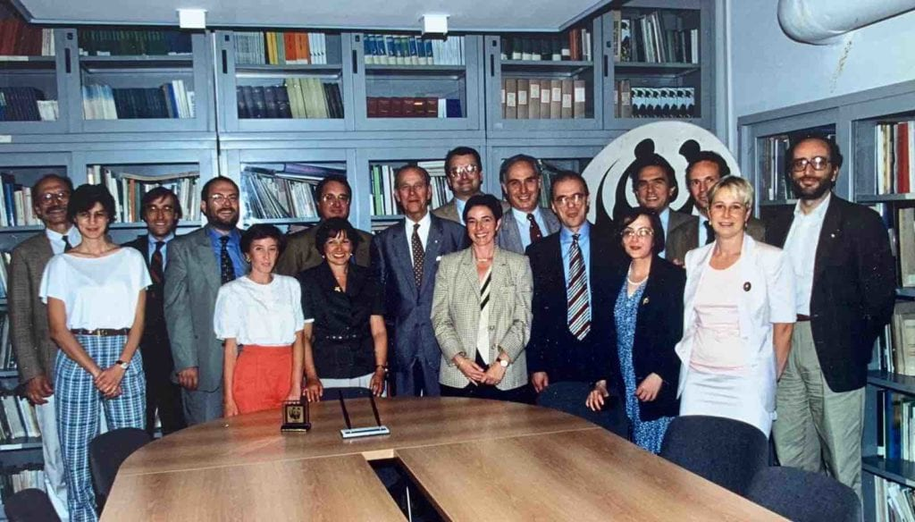 Visita del Principe presso sede WWF 1995