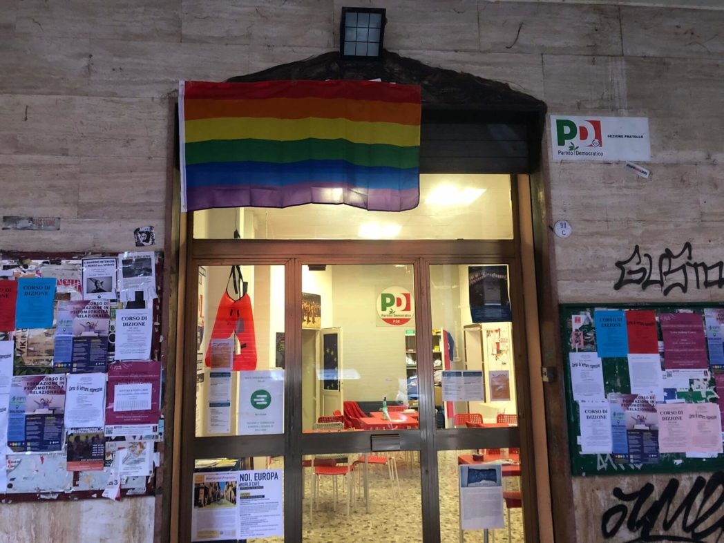 bandiera arcobaleno circoli pd bologna ddl zan