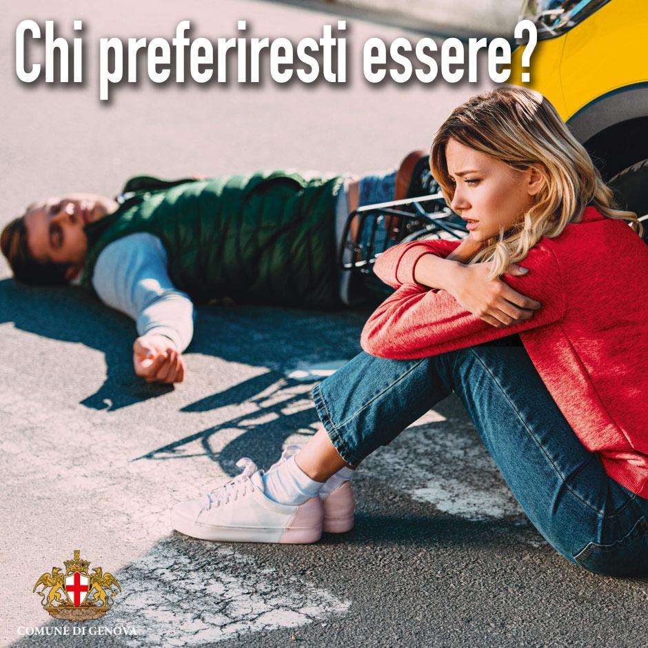 campagna comune di genova incidenti stradali