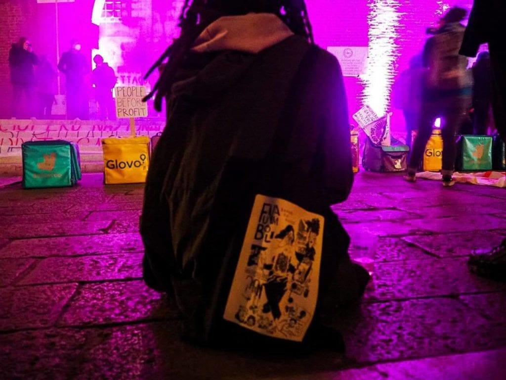 foto di Aldo Benvenuto - manifestazione rider