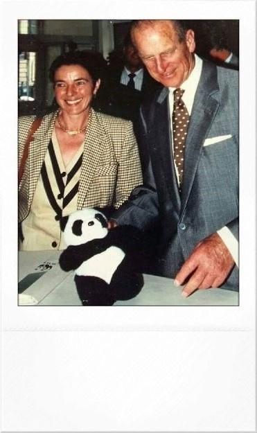 Grazia Francescato Presidente WWF con Principe Filippo 1995