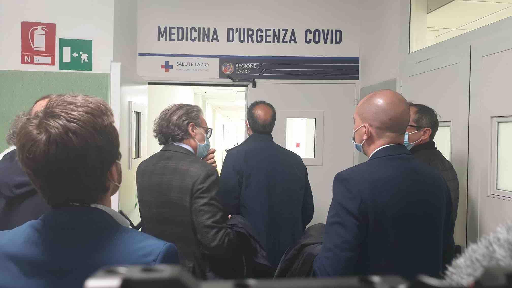 inaugurazione ospedale anzio reparto covid medicina urgenza
