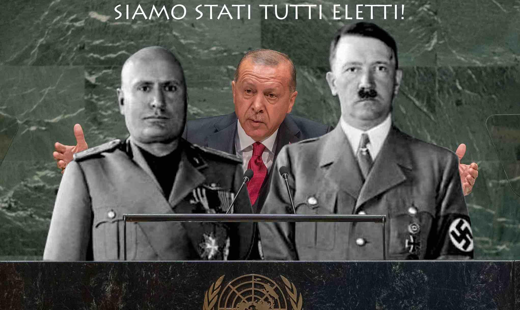 mussolini erdogan hitler