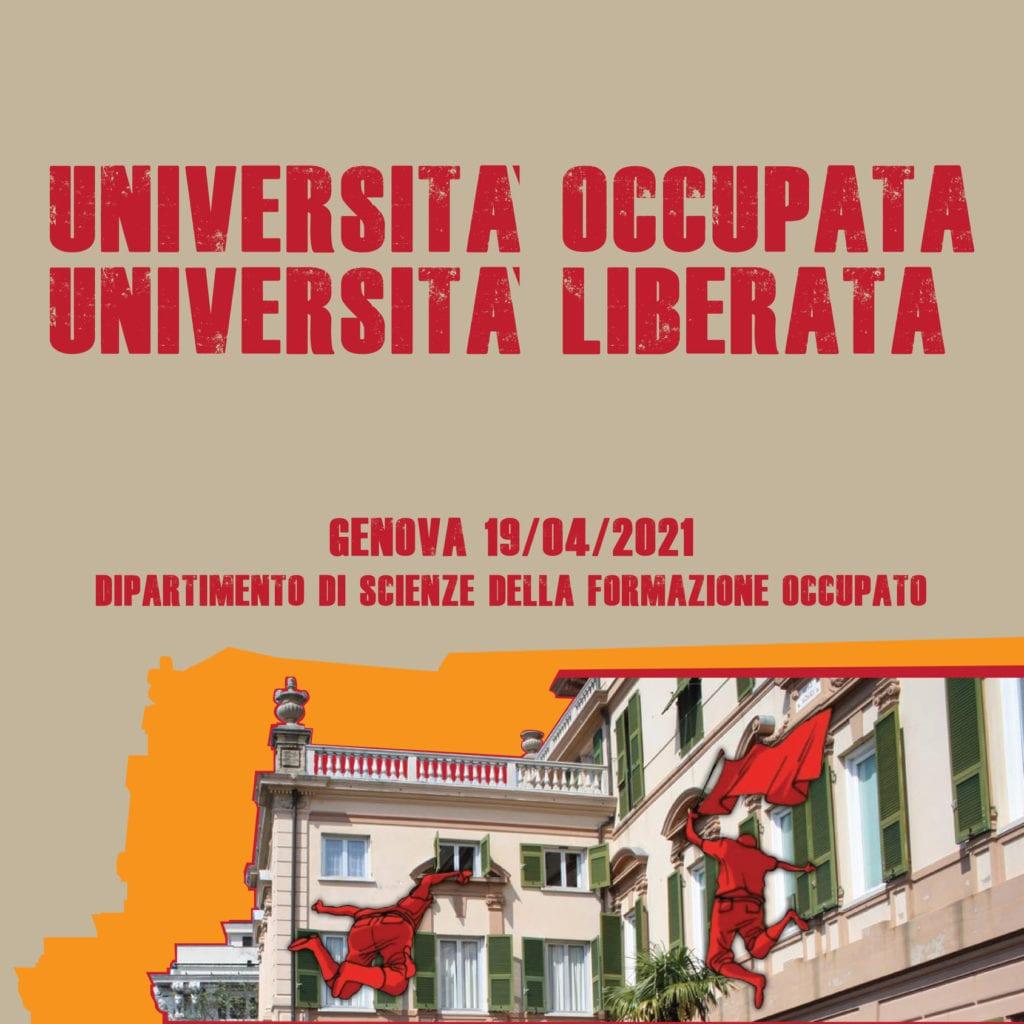 occupazione università di genova