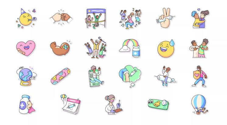 sticker vaccini whatsapp oms covid emoticon