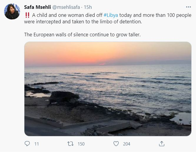 tweet safa msehli libia