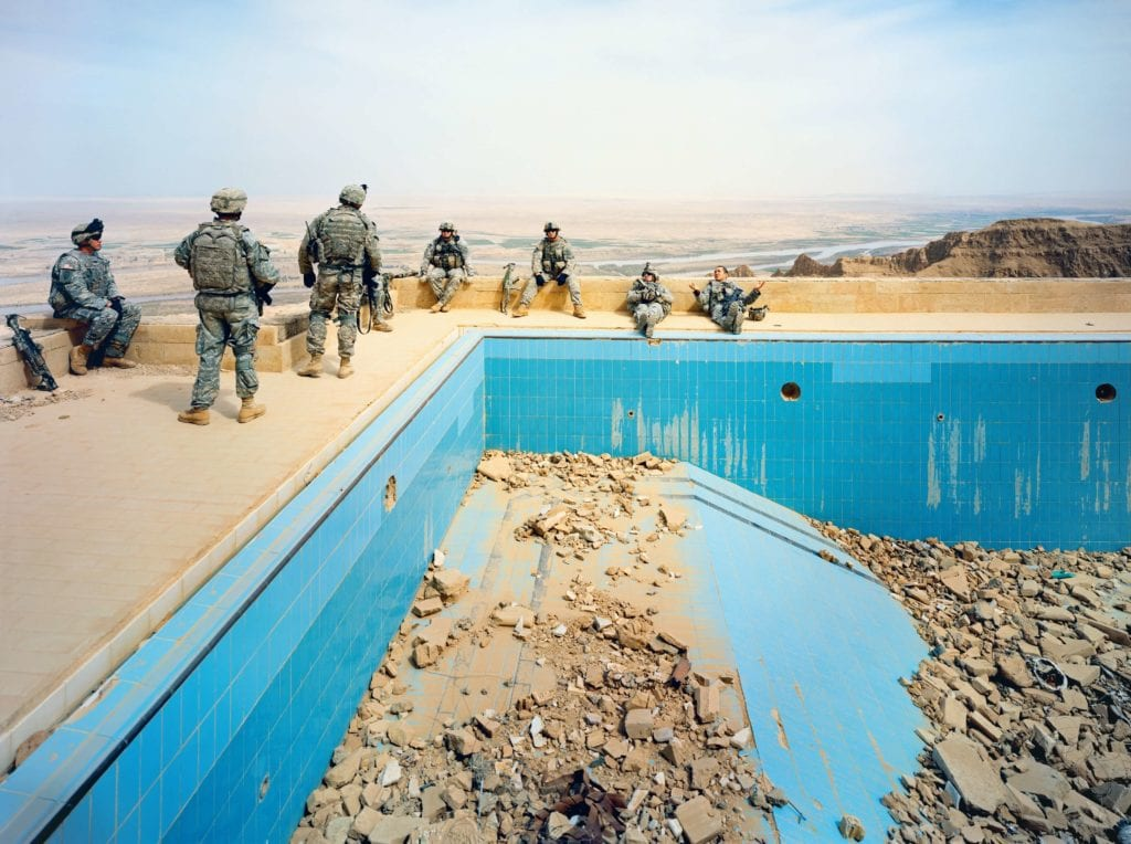 13. Pool at Uday's Palace, Salah-a-Din Province, Iraq. Photo credit @Richard Mosse