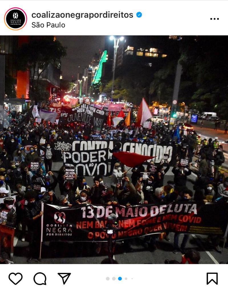 Demonstration in São Paulo