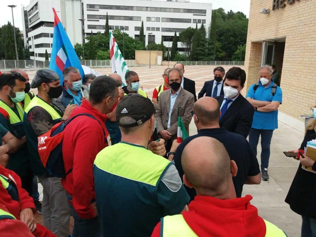 Acquaroli sindacati Elica Marche