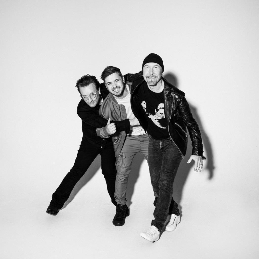 Martin Garrix, Bono & The Edge by Louis van Baar