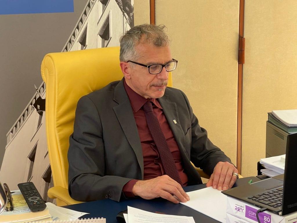 Il presidente del Cr Fvg, Piero Mauro Zanin, durante la videoconferenza Civex