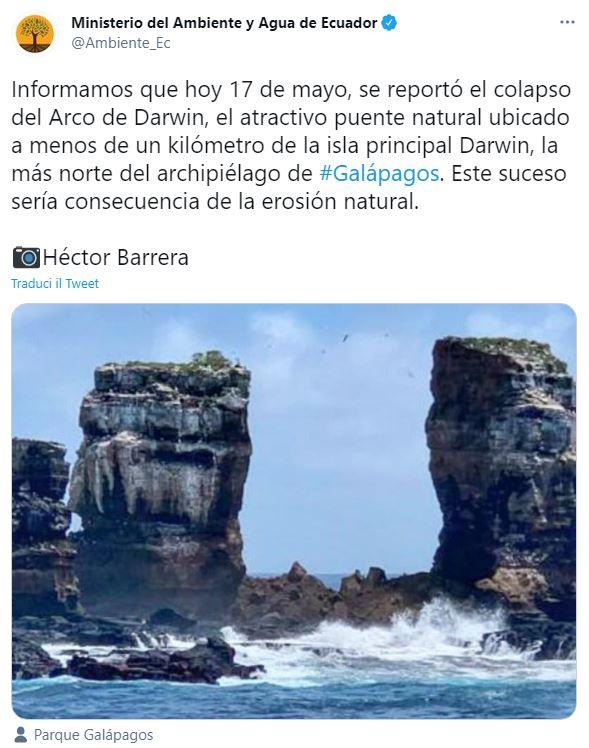 arco di darwin galapagos