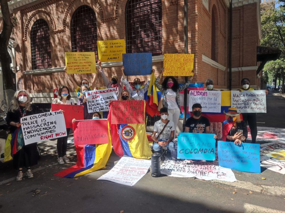 colombia manifestazione roma