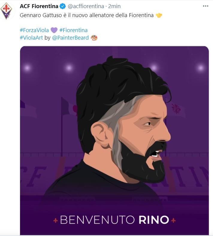 gattuso fiorentina annuncio twitter