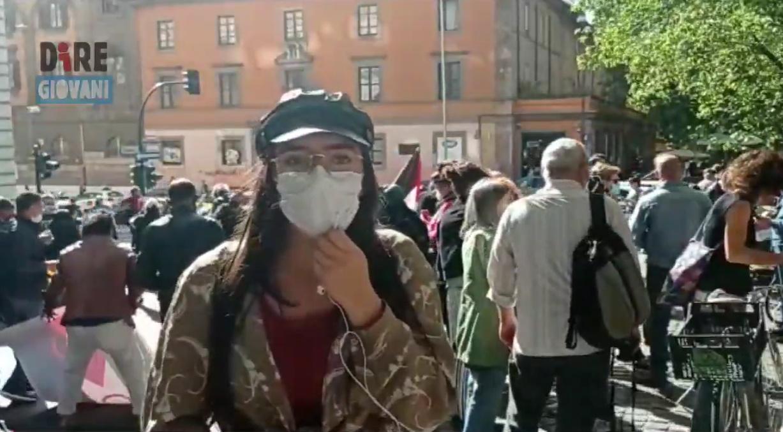 liceo morgagni roma manifestazione palestina