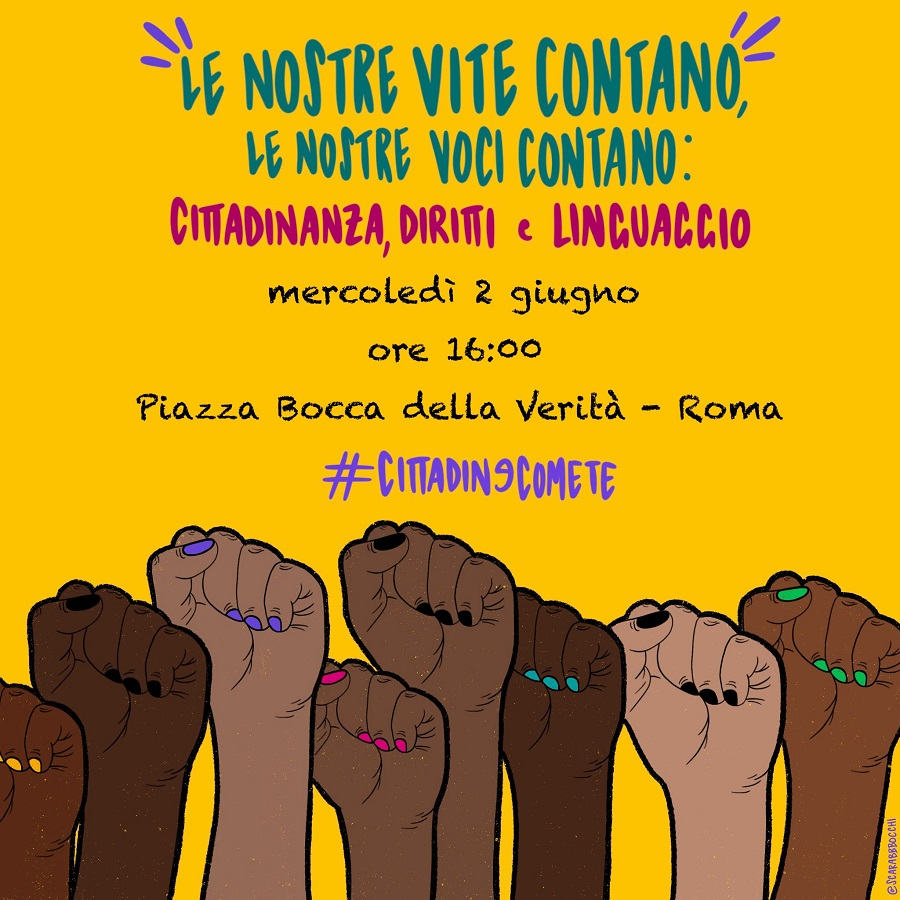 manifestazione black lives matter roma