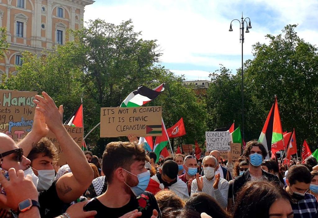 sit in palestina roma 1