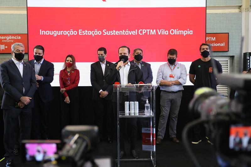 Inaugurazione stazione di Vila Olímpia san paolo del brasile