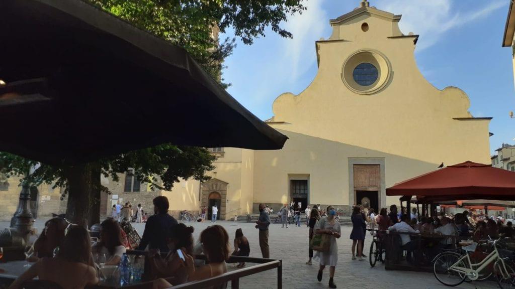 Firenze piazza mascherine bar