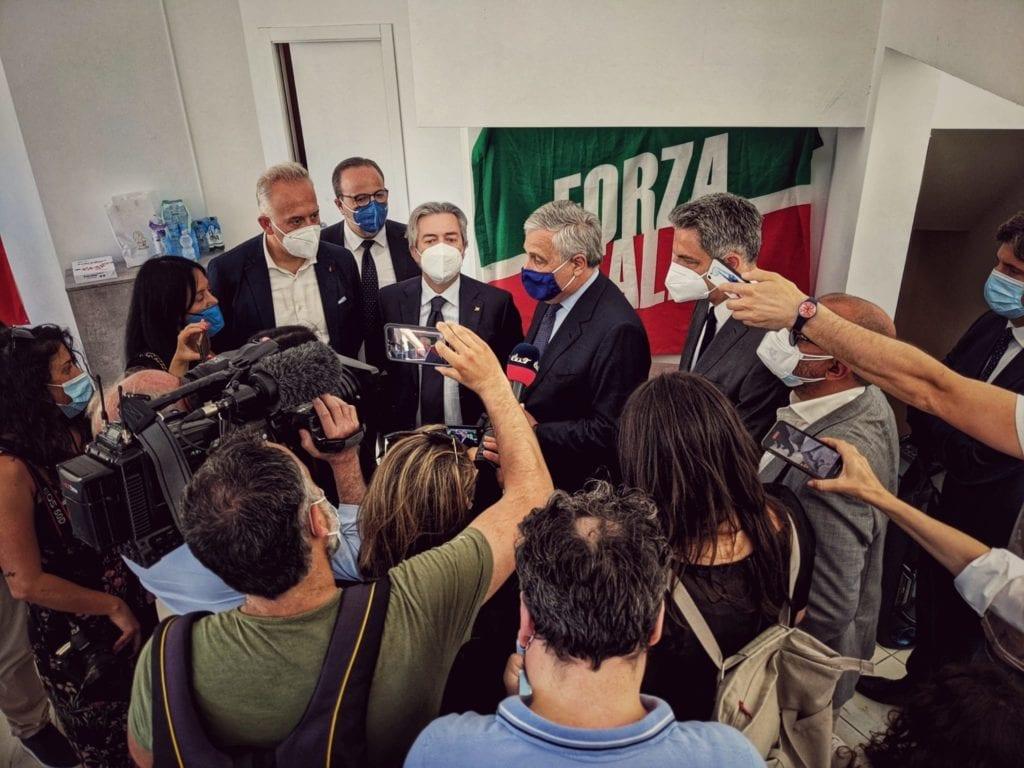 Tajani inaugurazione nuova sede forza italia civitanova marche
