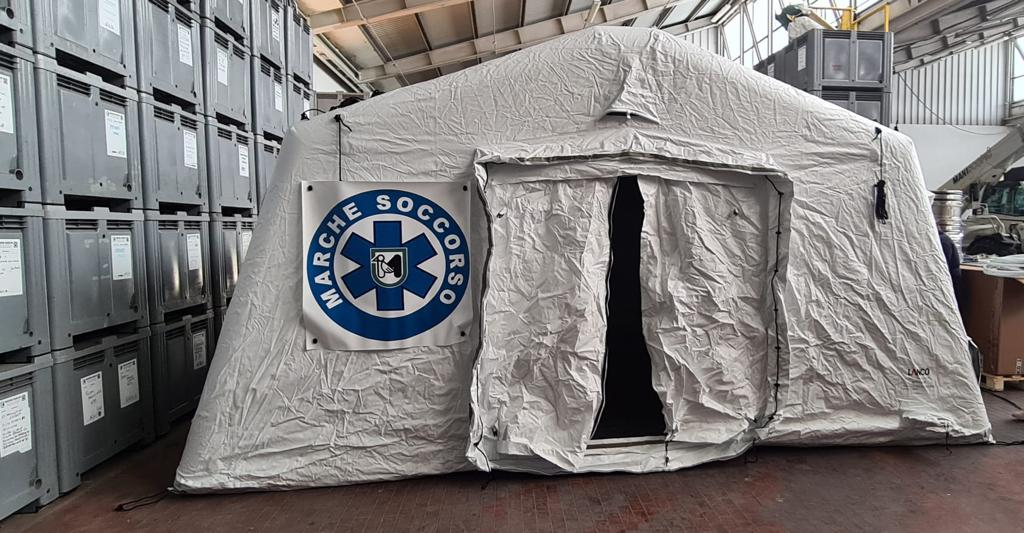 strutture campali per emergenza marche