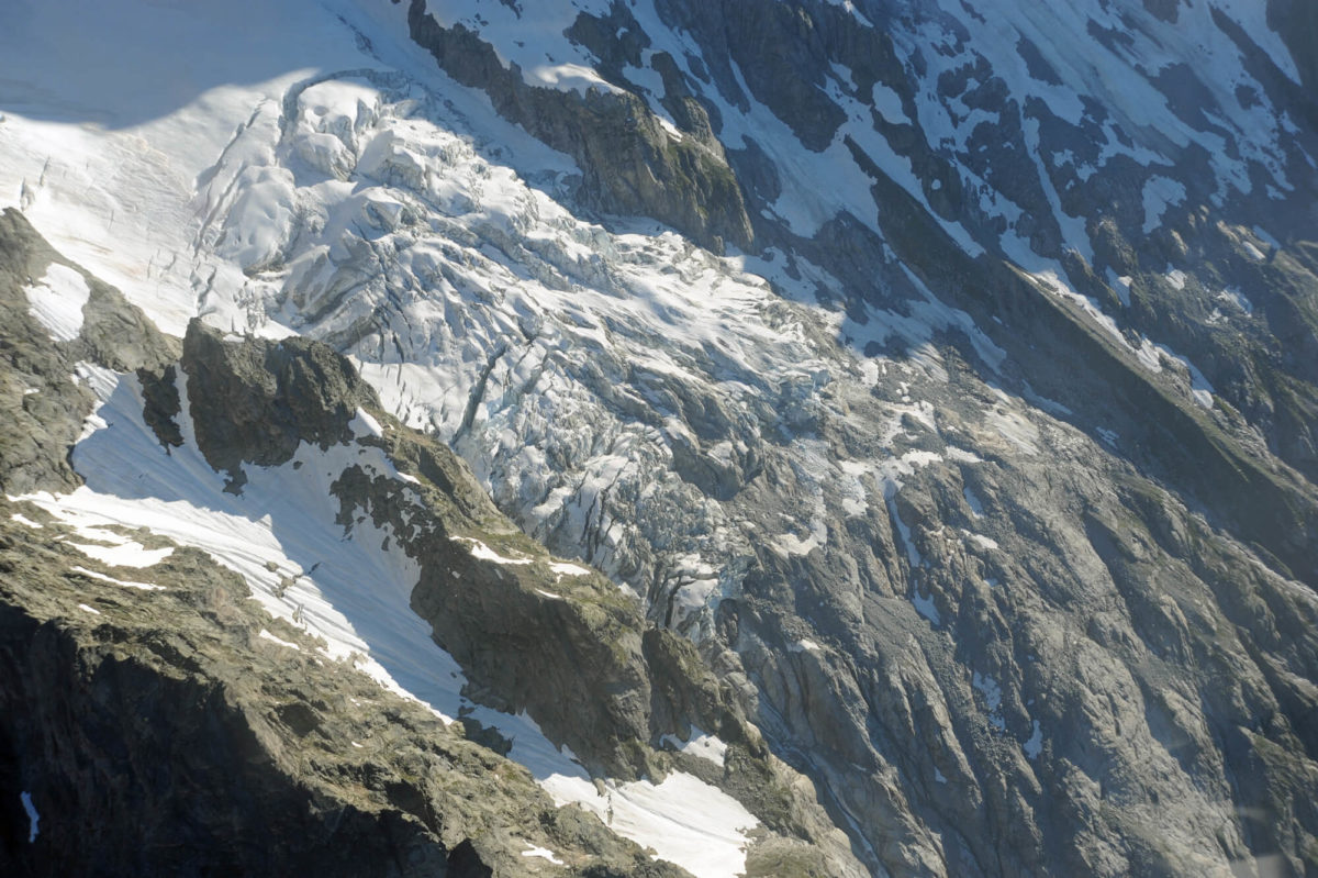 ghiacciaio di Planpincieux in val Ferret a Courmayeur