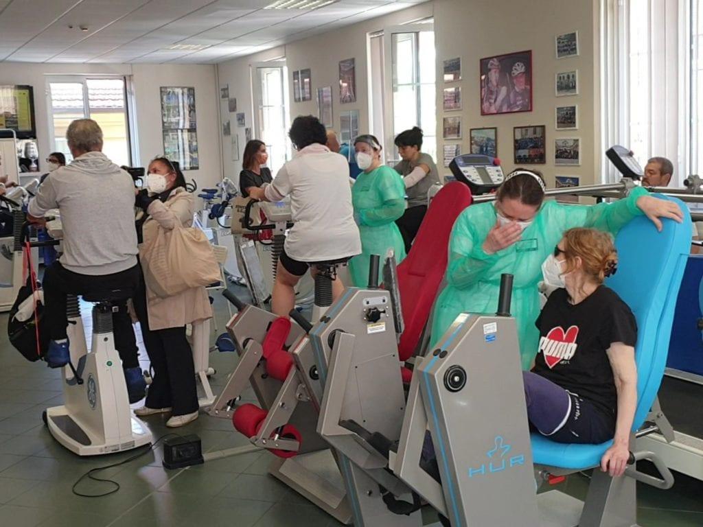 palestra di riabilitazione cardiologica del Palazzo della salute della Asl 3 alla Fiumara di Sampierdarena