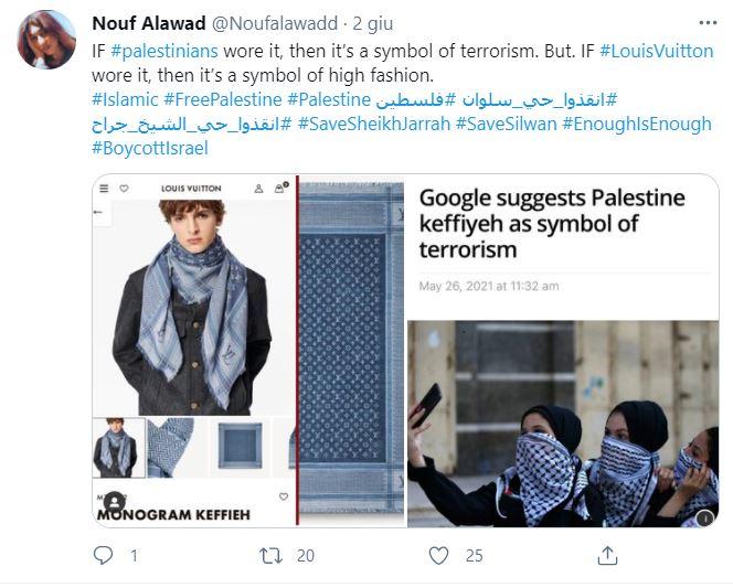 tweet Nouf Alawad louis vuitton
