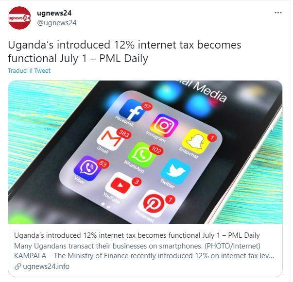 tassa su internet uganda