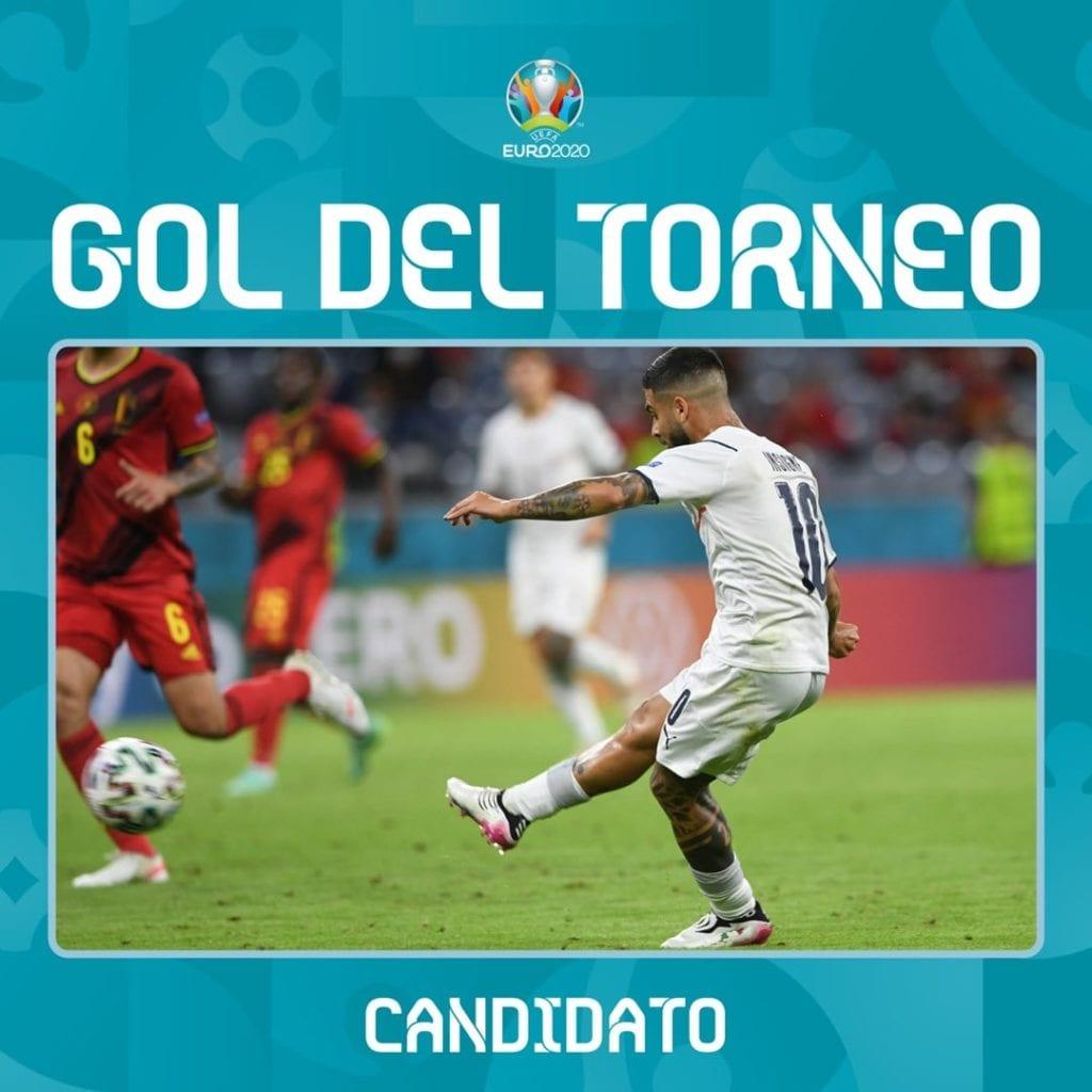 Gol di Insigne foto dal profilo Facebook della Nazionale