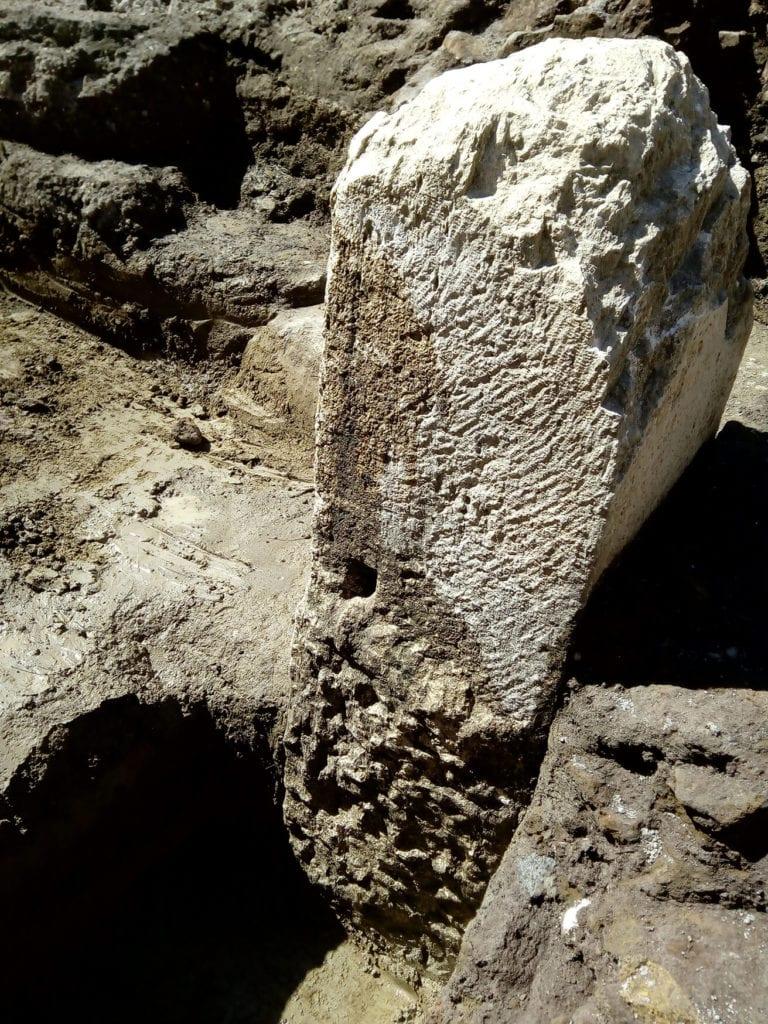 cippo pomeriale ritrovato a piazzale augusto imperatore roma