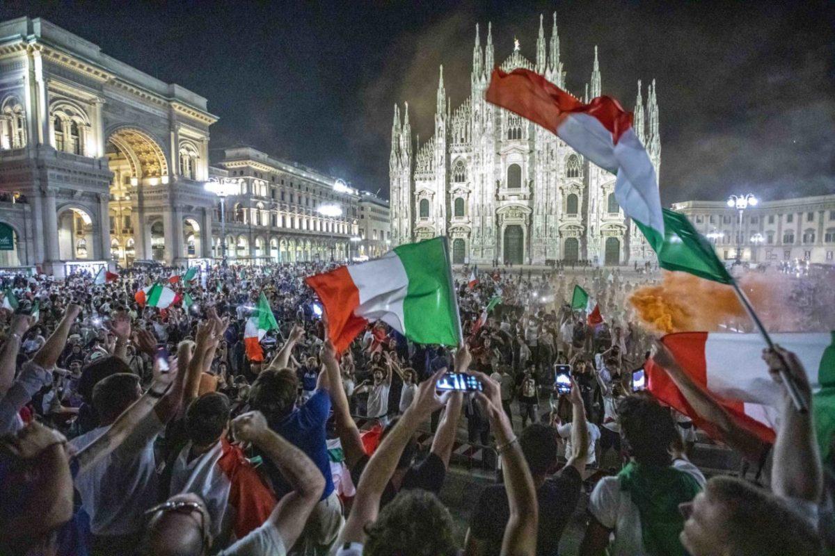 EUROPEI DI CALCIO 2020, I FESTEGGIAMENTI PER LA VITTORIA A MILANO