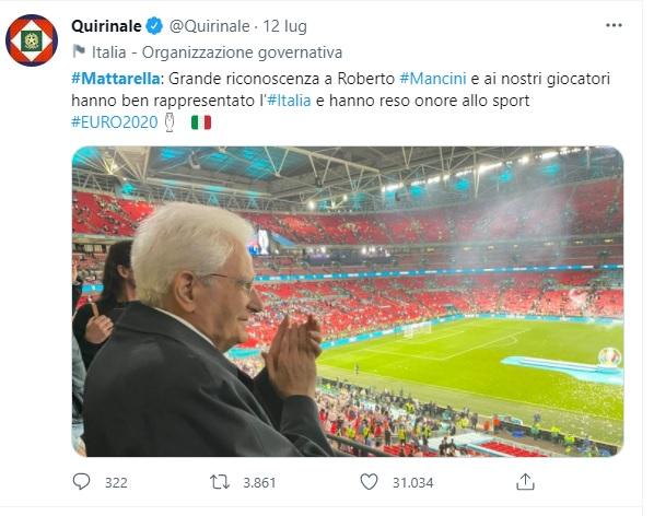 Mattarella Quirinale twitter