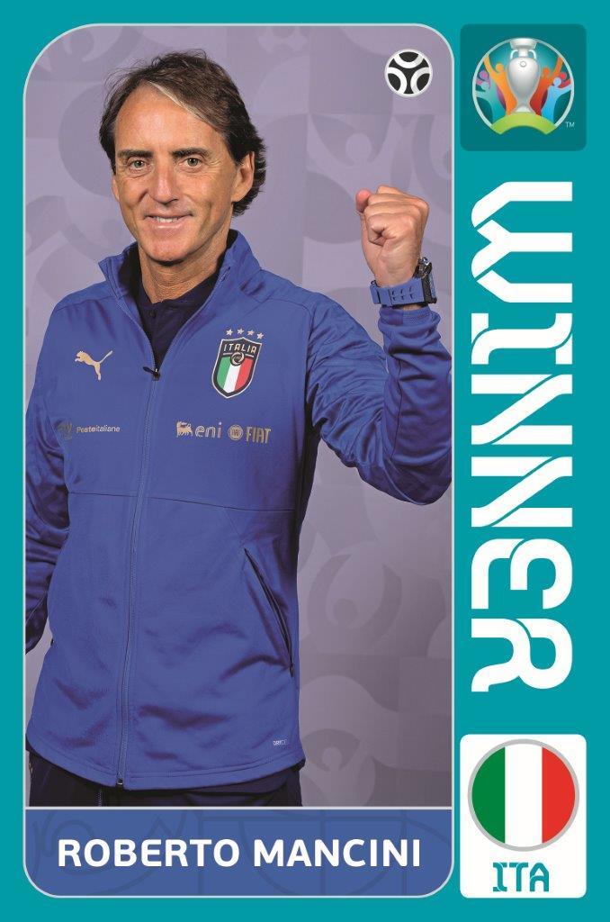 figurina Mancini Panini Uefa Euro 2020