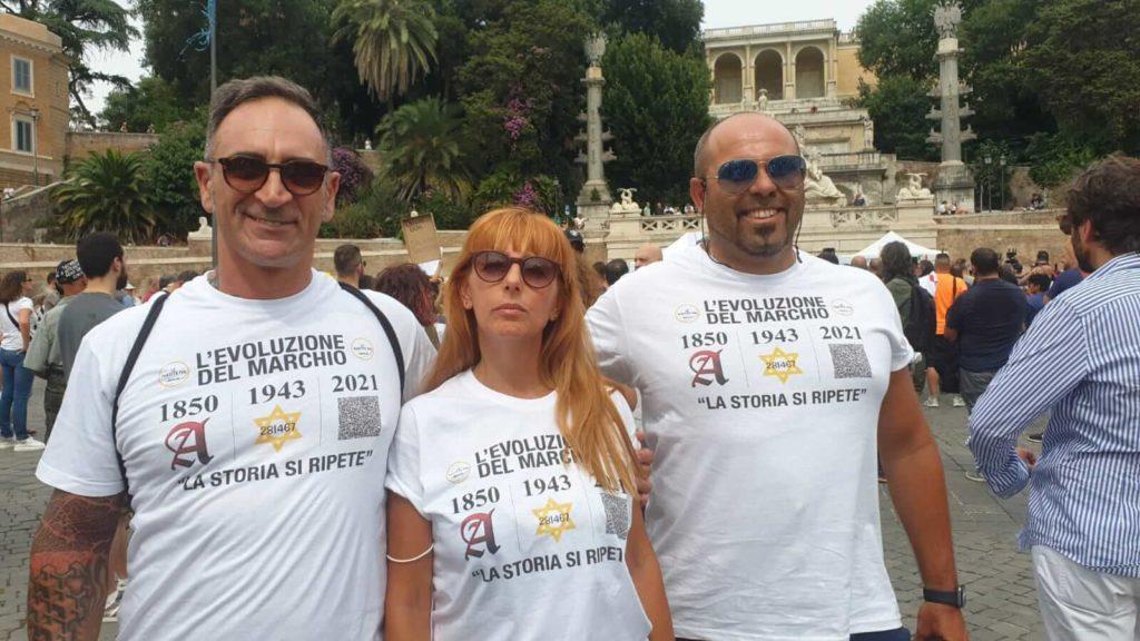 no green pass manifestazione roma