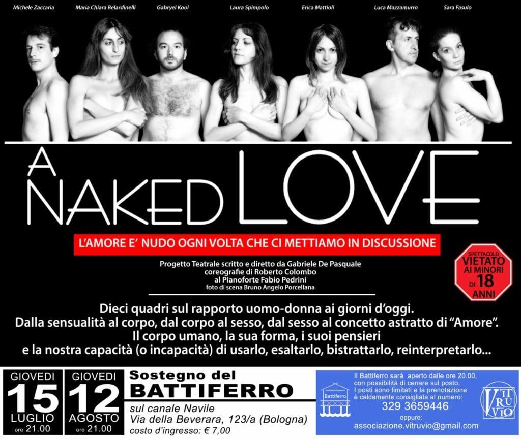 locandina a naked love teatro navile bologna