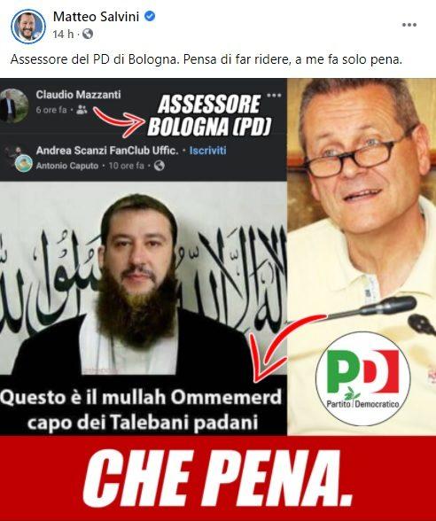 Salvini post fb Mazzanti