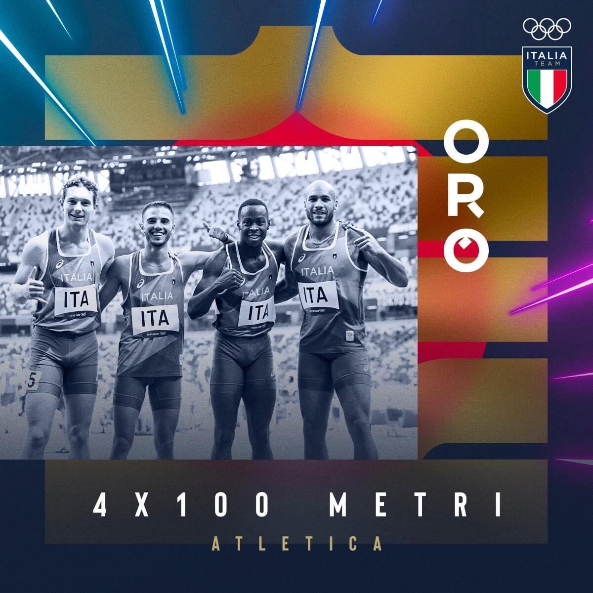 staffetta italia olimpiadi tokyo