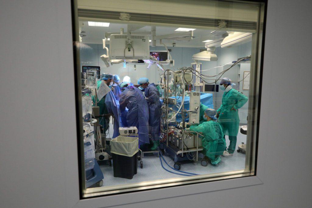 Bologna, 16/11/2020. Policlinico di S.Orsola. Padiglione 23. Polo Cardio-toraco-vascolare. Sale operatorie. Foto Paolo Righi
