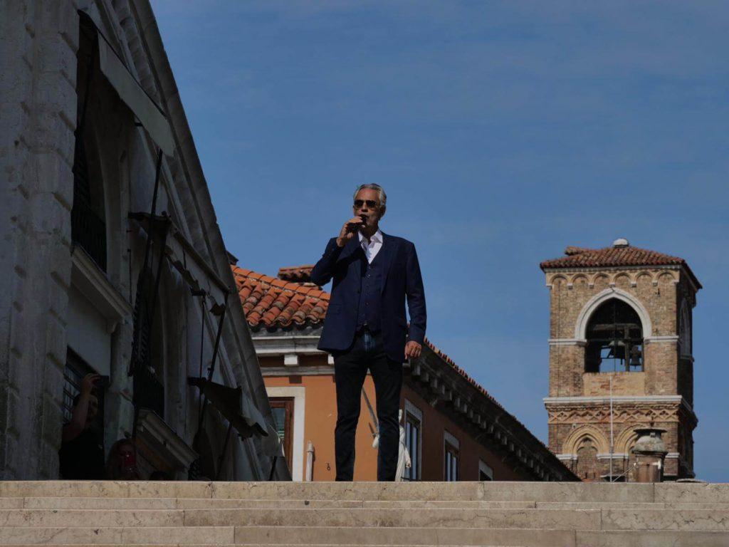 Bocelli restauro ponte rialto venezia