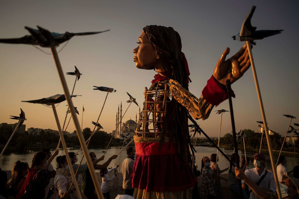 Marionetta Amal per minori rifugiati