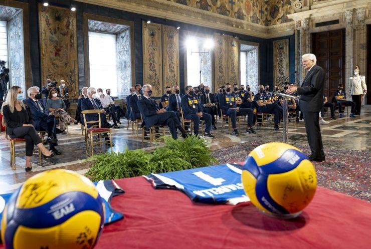 Mattarella nazionale pallavolo foto del Quirinale