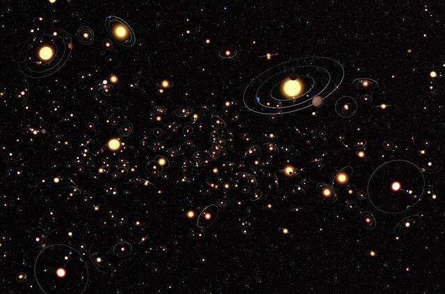Rappresentazione artistica di esopianeti-Crediti-ESO-M_ Kornmesser