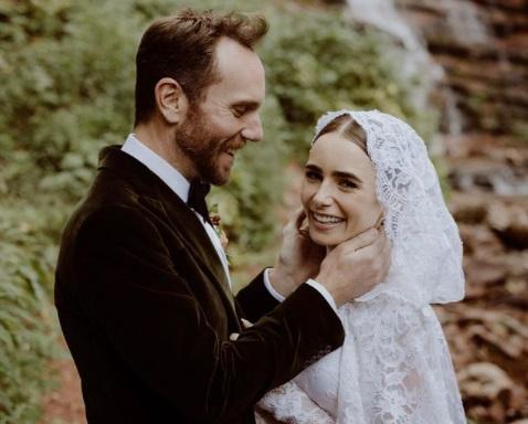 matrimonio lily collins foto da Instagram